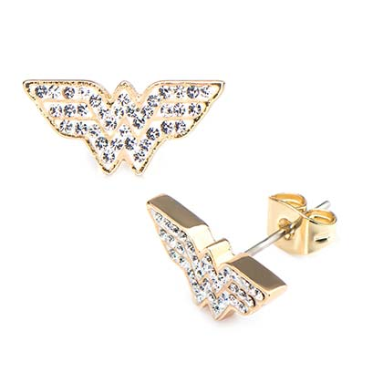 WONDER WOMAN Gem Stud Earrings