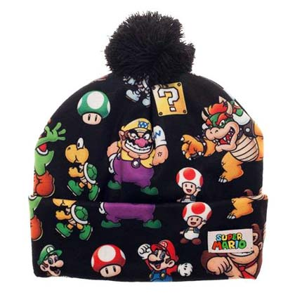 Super MARIO Bros. All Over Print Winter Pom Beanie