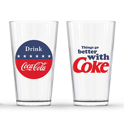 Coca Cola Things Go Better With A Coke Pint Glass Set