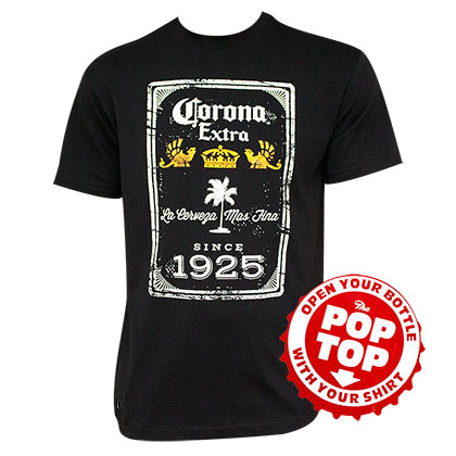 CORONA EXTRA Since 1925 Pop Top Bottle Opener Tshirt