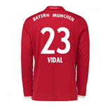 2016-17 Bayern Munich Long Sleeve Home Shirt (Vidal 23)
