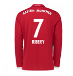 2016-17 Bayern Munich Long Sleeve Home Shirt (Ribery 7)