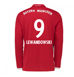2016-17 Bayern Munich Long Sleeve Home Shirt (Lewandowski 9)