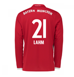 2016-17 Bayern Munich Long Sleeve Home Shirt (Lahm 21)