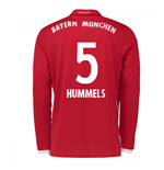 2016-17 Bayern Munich Long Sleeve Home Shirt (Hummels 5)