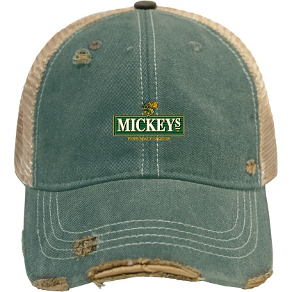 MICKEY'S Malt Liquor Beer Vintage Mesh Hat