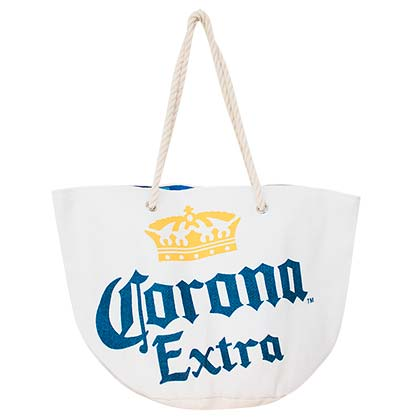 CORONA EXTRA White Beach Tote Bag