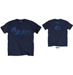 Queen Mens Tee: News of the World 40th Vintage Logo (Back Print)