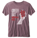 Green Day Mens Tee: American Idiot (Burn Out)
