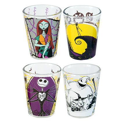 NIGHTMARE BEFORE CHRISTMAS Four Pack Shot Glass Set