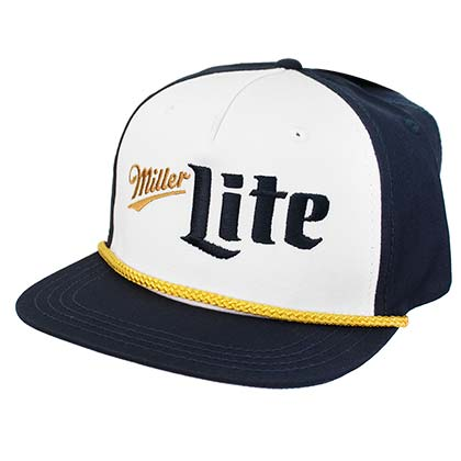 MILLER Lite Vintage Blue and Gold Logo Hat