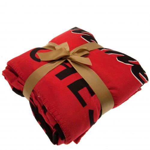 Manchester United F.C. Sherpa Fleece Blanket