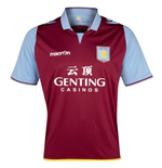 2012-13 Aston Villa Macron Home Football Shirt