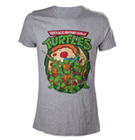 TMNT - Grey Melange. Ninja with Pizza
