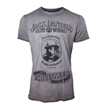 JACK DANIEL'S Men's Charcoal Mellowed 'Drop by Drop' T-Shirt, Extra Extra Large, Grey