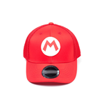 NINTENDO Super Mario Bros. Mario Logo Kids Curved Bill Trucker Cap, One Size, Red