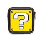 NINTENDO Super Mario Bros. Women's Question Mark Shaped Zipped Coin Pouch Purse, One Size, Yellow