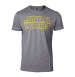 STAR WARS Men's Outlines Logo T-Shirt, Small, Grey