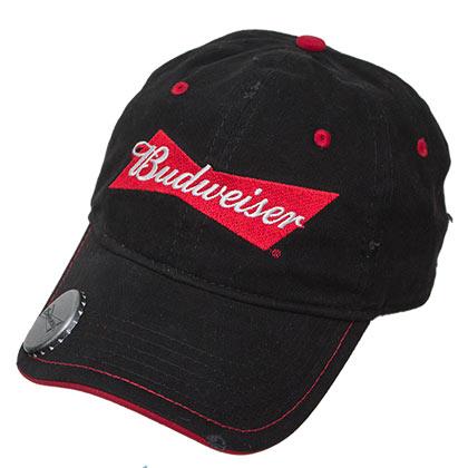Buy Official Budweiser Adjustable Black Bottle Opener Hat