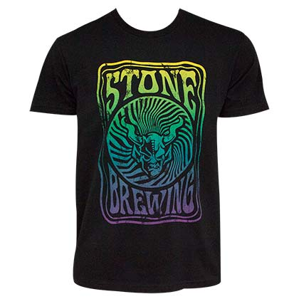 STONE BREWING CO. Groovy Men's Black Tee Shirt