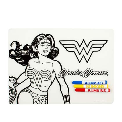 WONDER WOMAN Silicone Coloring Placemat