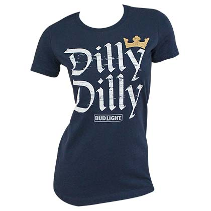 BUD LIGHT Dilly Dilly Navy Blue Women's Tee Shirt