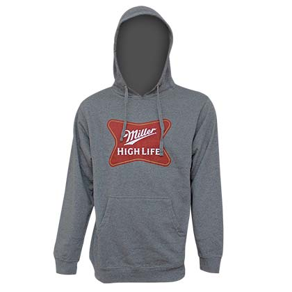 MILLER High Life Logo Grey Men's Hoodie