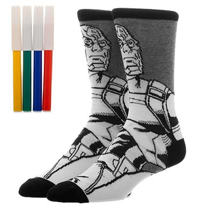 CAPTAIN AMERICA Color Yourself Socks