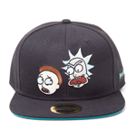 RICK AND MORTY Characters Snapback Baseball Cap, Black/Turquoise