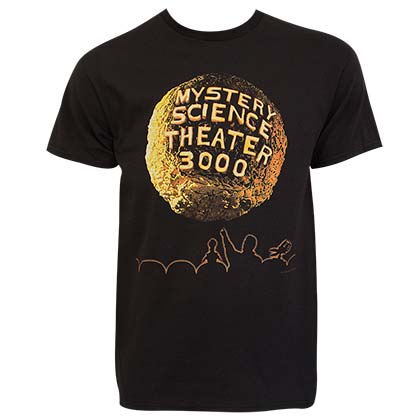 Mystery Science Theater 3000 Full Color Logo Black Tee Shirt