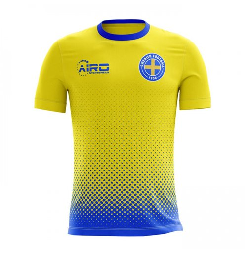 2018-2019 Sweden Home Concept Football Shirt
