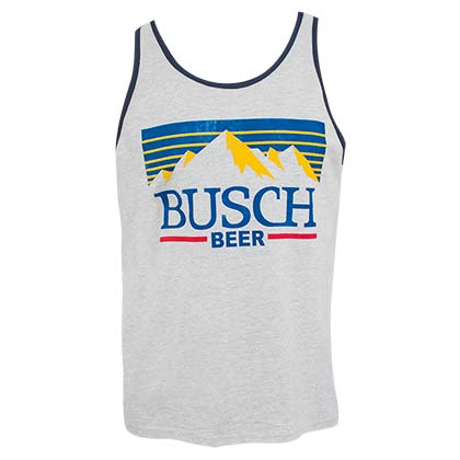 BUSCH Mountain Logo Grey Men's Tank Top