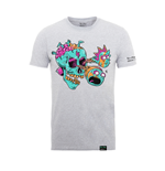 Rick And Morty X Absolute Cult T-shirt Eyeball Skull (heather GREY)