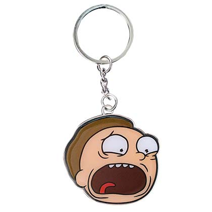 Rick And Morty Screaming Morty Keychain