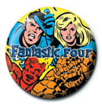 Marvel Pin Badge - Fantastic Four 25 mm