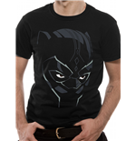Black Panther Movie - Comic Face - Unisex T-shirt Black