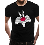 Looney Tunes - Sylvester Face - Unisex T-shirt Black