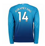 2017-2018 Arsenal Away Long Sleeve Shirt (Aubameyang 14) - Kids