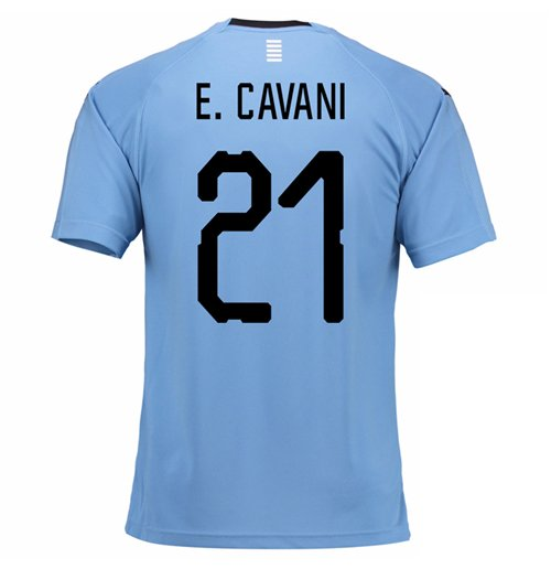 2018-2019 Uruguay Home Football Shirt (E. Cavani 21)