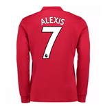 2017-18 Man United Long Sleeve Home Shirt (Alexis 7)