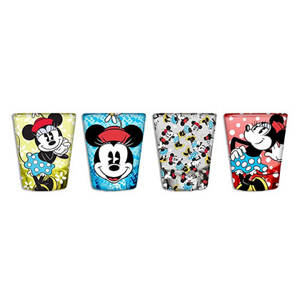 Minnie Mouse Four Piece Shot Glass Set