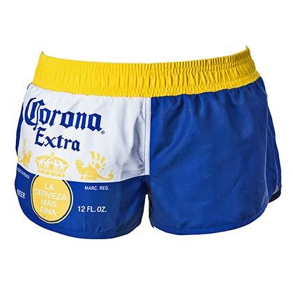 b471ce2487 CORONA EXTRA Label Design Women's Blue Swim Board Shorts