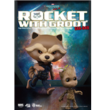 Guardians of the Galaxy Vol. 2 Egg Attack Action Figure Rocket Raccoon & Groot 10 cm