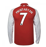 2017-18 Arsenal Home Long Sleeve Shirt (Mkhitaryan 7)