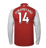 2017-18 Arsenal Home Long Sleeve Shirt (Aubameyang 14)