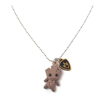 MARVEL COMICS Guardians of the Galaxy Groot Kawaii 3D Rubber Pendant Chain Necklace, One Size, Beige