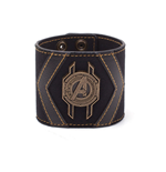 MARVEL COMICS Avengers: Infinity War Avengers Crest Wristband, One Size, Black/Gold