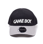 NINTENDO Gameboy Embroidered Logo Curved Bill Baseball Cap, Black/Grey