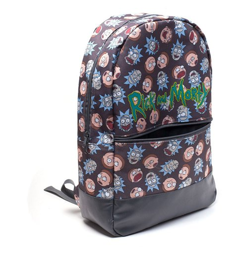 Buy Official Rick And Morty Logo And Big Faces Backpack