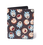 RICK AND MORTY All-over Faces Print Bi-fold Wallet, Multi-colour